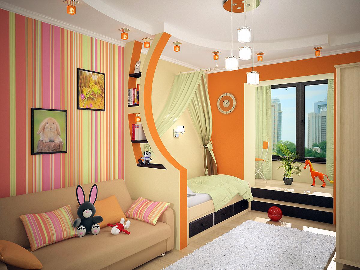 Оформление комнаты для детей — варианты дизайна
