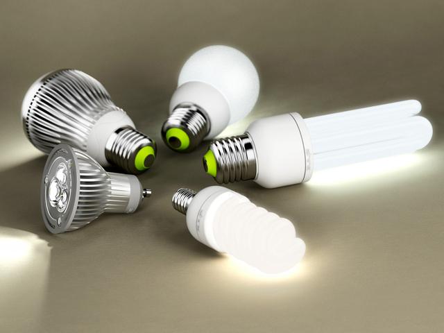 Установка энергосберегающих ламп.